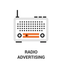 radio advertising icon vector image vector image