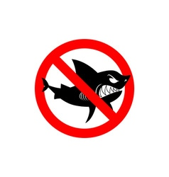 Sharks is prohibited Shark ban Area of water free vector image