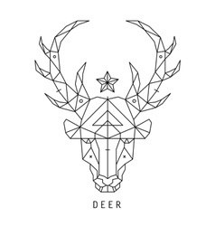 Stylized deer head silhouette with triangles vector image vector image
