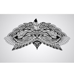 Tattoo black hand drawn highly detailed eagle vector