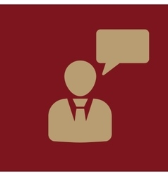 The message icon talking and communication vector