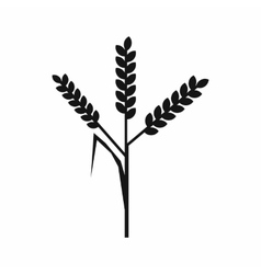 Wheat ears icon simple style vector image