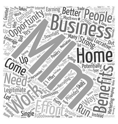 Work from home mlm business opportunity word cloud vector