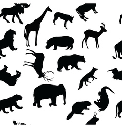 Wild animals seamless pattern background vector