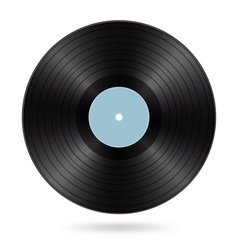 Black vinyl disc vector