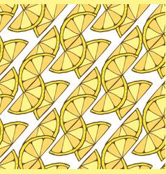 Lemon seamless pattern geometric background for vector
