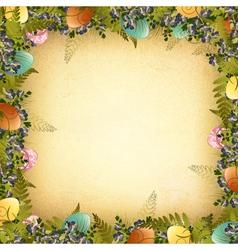 Vintage Easter Frame vector image