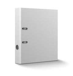 Office binder standing on white background vector