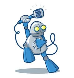 Singing robot vector