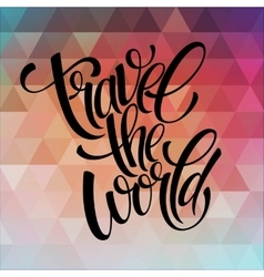 Around the world type design vector