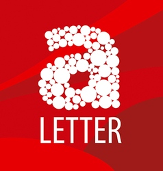 Logo letter a on a red background vector