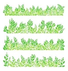 Green leaves border EPS 10 vector image