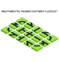 Isometric roads constructor vector