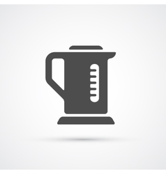 Teapot kettle trendy icon vector