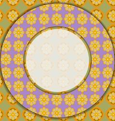 Circular photo frame vector image vector image