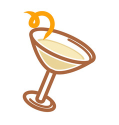 classic cocktail with citron vector image vector image