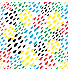 Colorful dubs seamless pattern vector