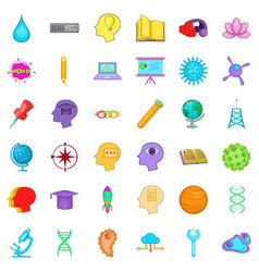 Creative idea icons set cartoon style vector