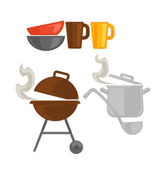Different kitchenware for cooking vector
