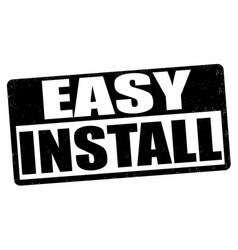 Easy install stamp vector