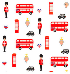 england symbols seamless pattern vector image