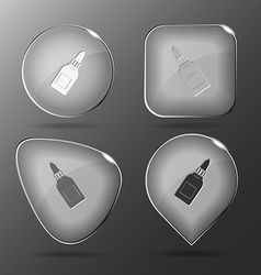 Glue bottle Glass buttons vector image