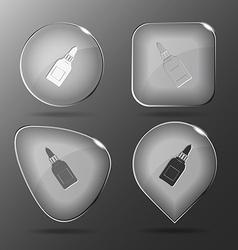 Glue bottle glass buttons vector
