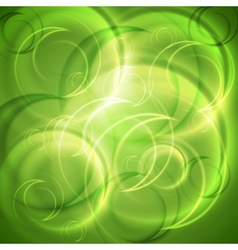 Green shiny abstract backdrop vector image
