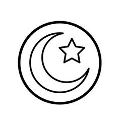 islamic icon crescent star icon- iconic design vector image