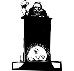 Judge and rising sun vector