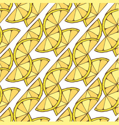Lemon seamless pattern geometric background for vector