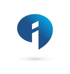 Letter I speech bubble info logo icon design vector image vector image