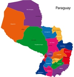 Paraguay map vector image vector image