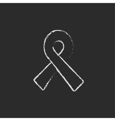 Ribbon icon drawn in chalk vector image