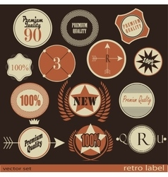 Set of Premium Quality and Guarantee retro Labels vector image vector image