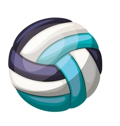 Silhouette color with volleyball ball vector