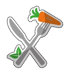 single carrot icon image vector image