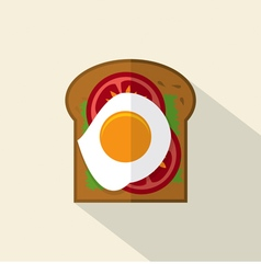 Top View Of Flat Design Sandwich vector image vector image