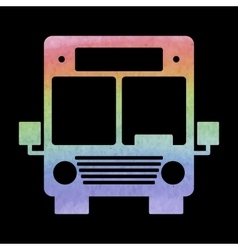 Watercolor bus icon vector