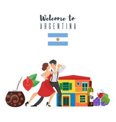 Welcome to argentina template for web banner vector