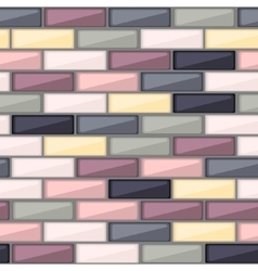 Abstract pattern with colorful brick elements vector image