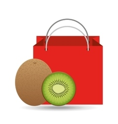 Red package juicy kiwi fruit vector