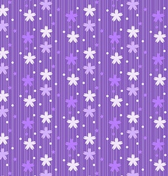 Purple floral pattern vector