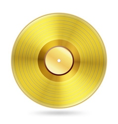Realistic golden records disc vector