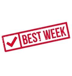 Best week rubber stamp vector