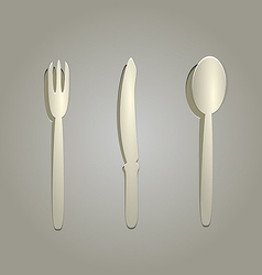 Silverware cut from paper vector