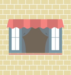 Flat Design Window vector image