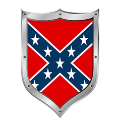 Confederate flag icon vector