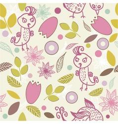 leafy wallpaper vector image