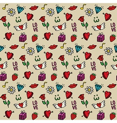 Love seamless pattern valentines day background vector